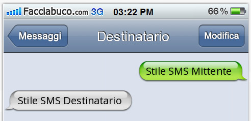 generatore sms iPhone